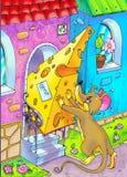 Consegna del formaggio Fotografie Stock