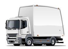 Consegna del fumetto o camion del carico Fotografie Stock Libere da Diritti
