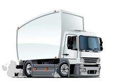 Consegna del fumetto o camion del carico Fotografia Stock Libera da Diritti