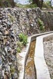 Consegna dell'acqua del plateau dell'Oman Saiq Fotografia Stock