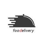 Consegna dell'alimento con il piatto nero royalty illustrazione gratis