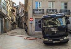 Consegna della birra a Vigo, Galizia - Spagna Immagini Stock Libere da Diritti