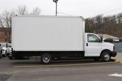 Consegna della casella o camion commovente Immagine Stock Libera da Diritti