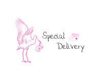 Consegna della neonata Immagini Stock Libere da Diritti