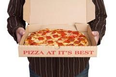 Consegna della pizza Immagini Stock Libere da Diritti