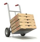 Consegna della pizza Immagine Stock Libera da Diritti