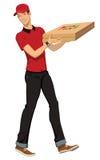 Consegna della pizza Immagine Stock