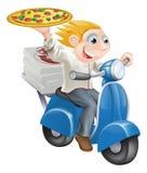 Consegna della pizza degli alimenti a rapida preparazione Immagini Stock
