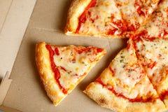 Consegna della pizza Menu della pizza Immagini Stock