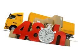 Consegna della strada in 48 ore illustrazione vettoriale