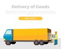 Consegna delle merci illustrazione di stock