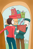 consegna di E-ordine royalty illustrazione gratis