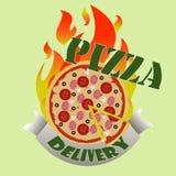 Consegna di pizza Immagini Stock Libere da Diritti