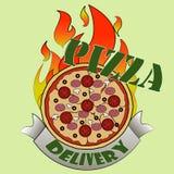 Consegna di pizza illustrazione vettoriale