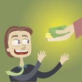 Consegna di soldi, credito. Fotografia Stock