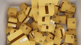Consegna di tantissimi pacchetti Logistica del mondo Pacchetti cinesi 10 video d archivio