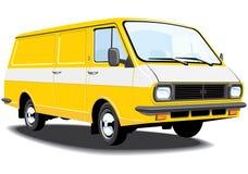 Consegna e furgone del carico Fotografia Stock Libera da Diritti