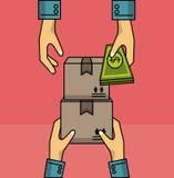 Consegna e logistica illustrazione di stock