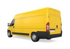 Consegna gialla Van Isolated Immagini Stock