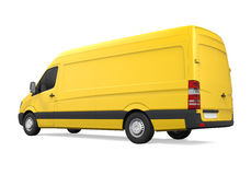 Consegna gialla Van Isolated Fotografia Stock Libera da Diritti