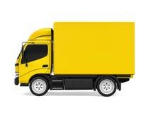 Consegna gialla Van Isolated Immagine Stock Libera da Diritti