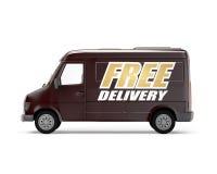 Consegna gratuita del camion del carico Immagini Stock