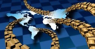 Consegna internazionale del pacchetto Immagini Stock Libere da Diritti
