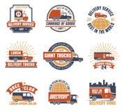 Consegna Logo Emblem Set Fotografie Stock Libere da Diritti