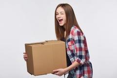 Consegna, rilocazione e disimballare Immagine Stock