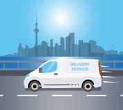 Consegna Van bianca royalty illustrazione gratis