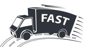 Consegna Van, illustrazione di vettore Immagini Stock Libere da Diritti