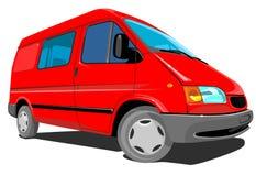 Consegna Van rossa Fotografia Stock Libera da Diritti