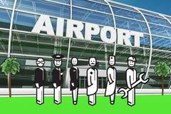 Consegnatario dell'aeroporto Fotografia Stock Libera da Diritti