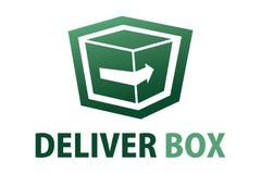 Consegni il logo della scatola Immagine Stock