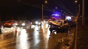 Conseguenza di grave incidente stradale con le vittime archivi video