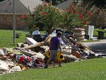 Conseguenze dell'inondazione di Baton Rouge 2016 immagine stock libera da diritti