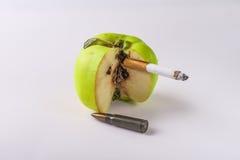 Conseguenze della sigaretta Fotografia Stock Libera da Diritti