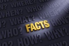 Conseguir los hechos Foto de archivo libre de regalías