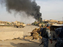 Conseguir Mortared Bagdad Iraq 07 fotos de archivo libres de regalías