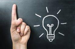 Conseguir nueva idea Innovador, inspiración y aprendizaje creativo Foto de archivo