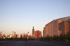 Conseguir obscuridad en Chicago Fotografía de archivo