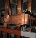 Conseil électrique de puissance élevée avec les barres de cuivre Photos stock