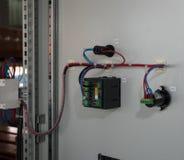 Conseil électrique de puissance élevée avec les barres de cuivre Photographie stock