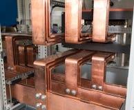 Conseil électrique de puissance élevée avec les barres de cuivre Photo libre de droits