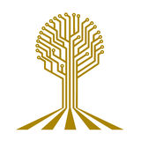 Conseil électronique sous forme d'arbre Photo stock