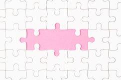 Conseil blanc inachevé de puzzle denteux photographie stock