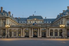 The Conseil d Etat  is an administrative court of the French gov. The Conseil d Etat (Council of State) is an administrative court of the French government Stock Photography
