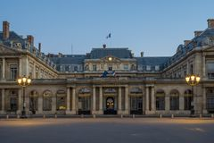 The Conseil d Etat Council of State. Is an administrative court of the French government Stock Photography
