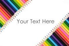 Conseil de couleur de crayon Image libre de droits