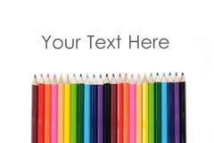 Conseil de couleur de crayon Photo stock